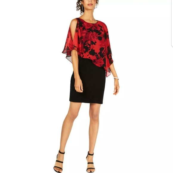 connected apparel Dresses & Skirts - Connected Apparel Women's Chiffon-Overlay Dress